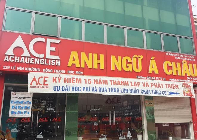 Trung tâm Anh ngữ Á Châu hoạt động chưa được cấp phép