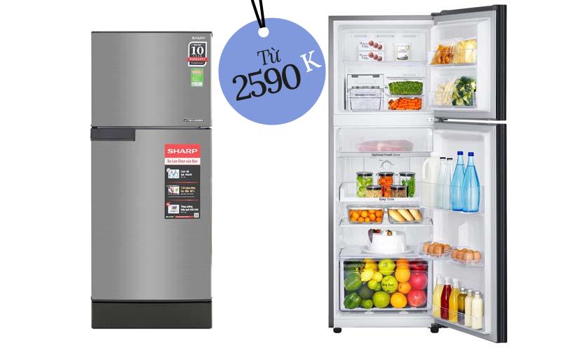 """4 tủ lạnh bình dân bán chạy nhất tại các siêu thị điện máy Chưa đến 7 triệu đã sắm được một """"em"""""""