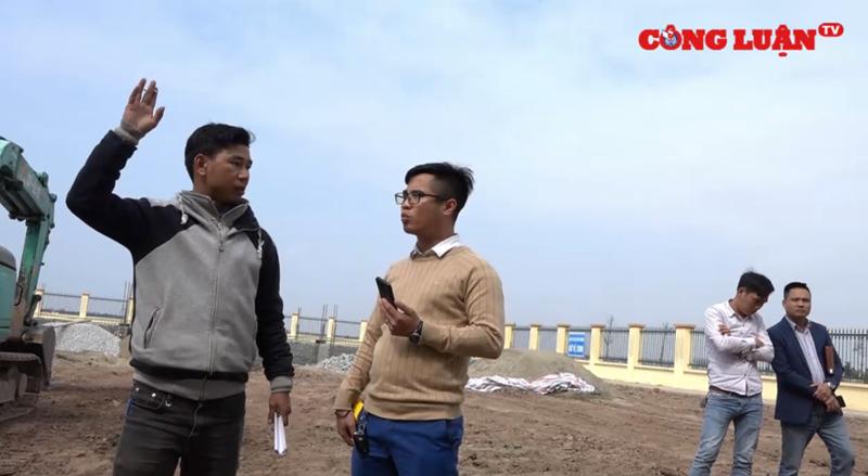 Tiền Hải Thái Bình  Nhóm phóng viên bị nhà thầu đe dọa, lăng mạ, cản trở tác nghiệp