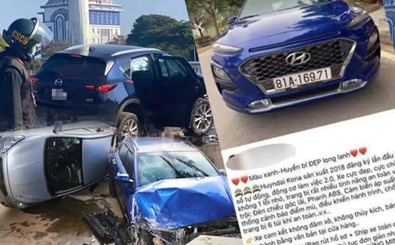 Chiếc xe Huyndai Kona từng gây tai nạn kinh hoàng được rao bán long lanh trên mạng giá 605 triệu đồng