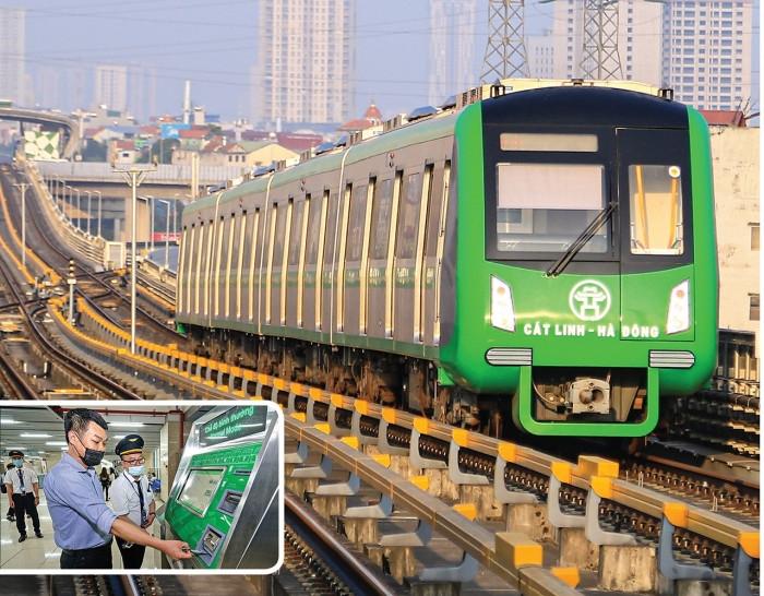 Tàu Cát Linh - Hà Đông chạy từ 5 giờ sáng đến 23 giờ đêm, giá vé cao nhất 15 000 đồng lượt