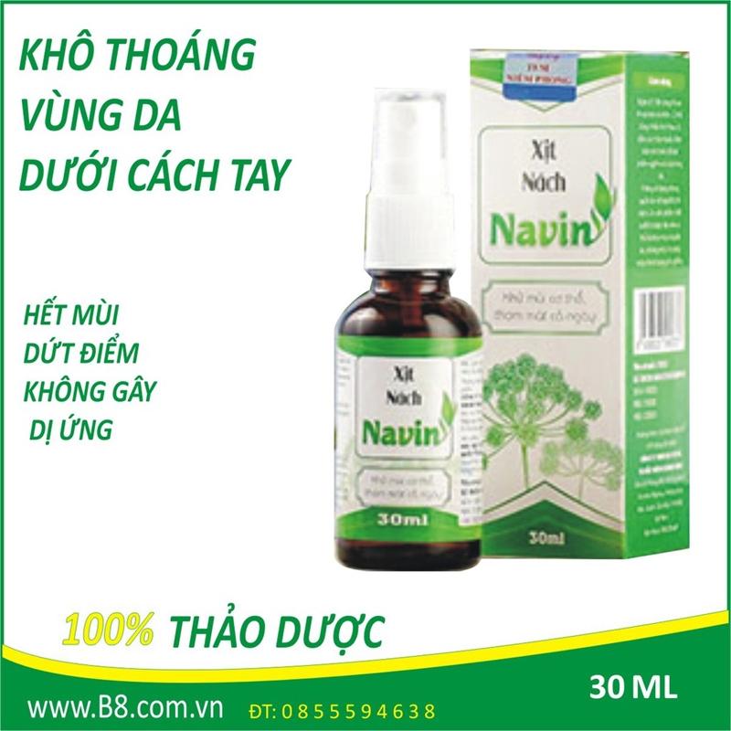 Thực hư mỹ phẩm xịt nách Navin bảo hành 3 năm khả năng điều trị dứt điểm mùi cơ thể