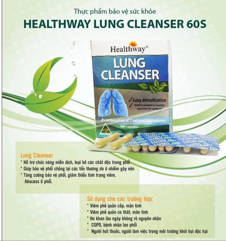 Healthway Lung Cleanser 60s Chỉ là thực phẩm chức năng nhưng thổi phồng công dụng như thuốc chữa bệnh