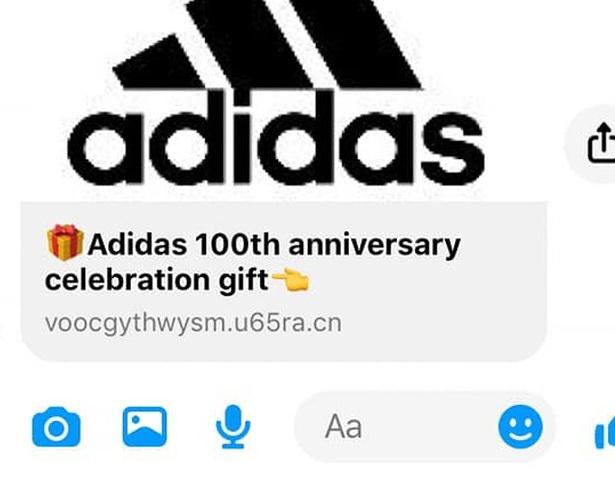 Cảnh báo Truy cập link giả mạo Adidas tặng quà, nhiều người sập bẫy chỉ vì phần quà rất giá trị