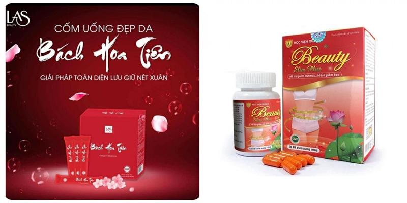 Cảnh báo sản phẩm TPBVSK Beauty Slim Plus và Bách Hoa Tiên vi phạm Luật quảng cáo